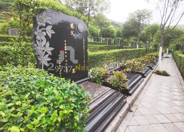 清溪河畔长松古寺长松寺公墓标准左右双墓