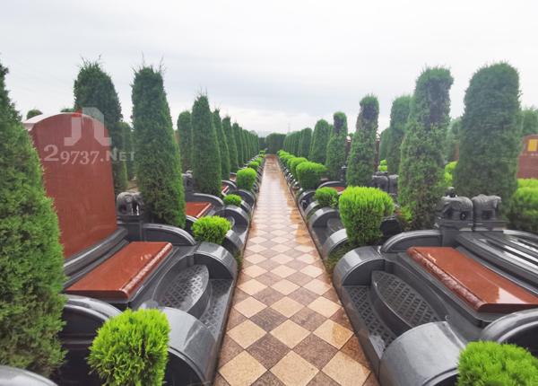 大朗公墓温江金马大朗陵园成品豪华墓双墓墓型怎么样?